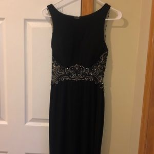 Dresses & Skirts - Black Formal Gown with black sequin mesh detail